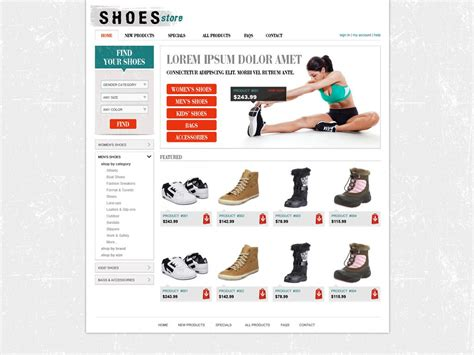 free shopping cart website template online store