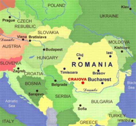 where is romania on a map location universitaty of craiova