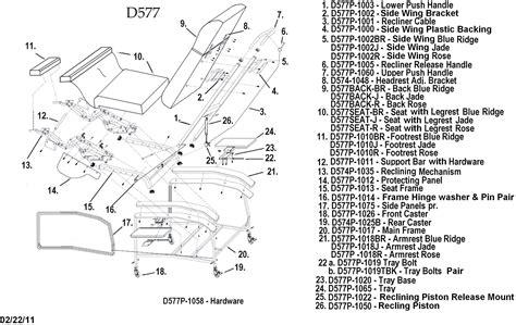 recliner parts diagram lazy boy rocker recliner parts