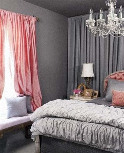 pink and gray bedroom ideas love curtains best loved grey curtains
