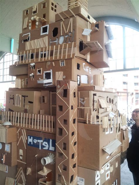 cardboard box house school art project cardboard box houses cardboard box houses pinterest