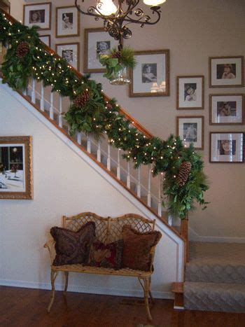 stair garland ideas best 25 garland for stairs ideas on decorations for staircase
