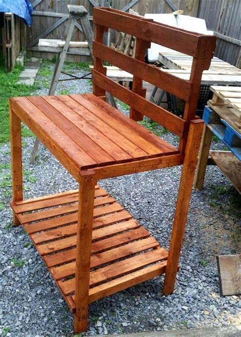potting bench from pallets pallet potting bench step by step