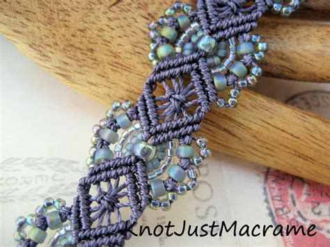 Micro Macrame Patterns - micro macrame tutorial hydrangeas bracelet pattern