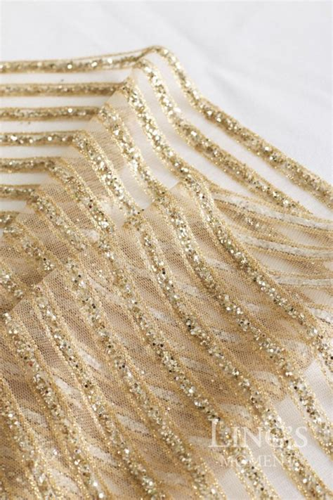 wedding table runners gold striped sparkly glitter chagne gold table runner