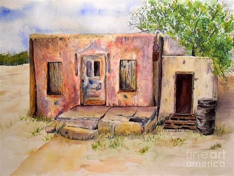 Adobe Homes Plans old house in clovis nm painting by vicki housel