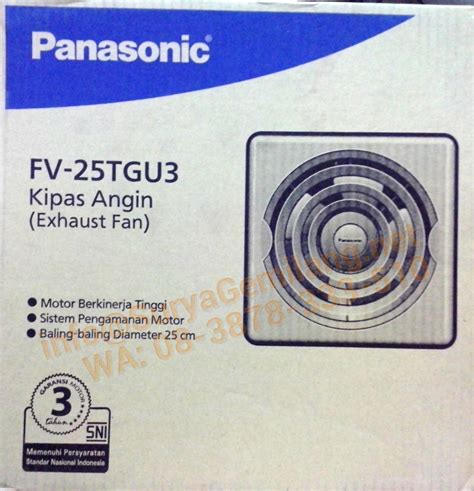 Exhaust Fan Panasonic Fv 25 Tgu jual exhaust fan panasonic plafond fv 25tgu asli baru