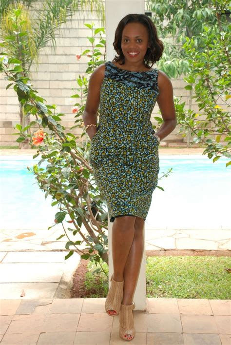 ghanaian ladies straight dress day 63 designed in liberia 100 days of african fashion