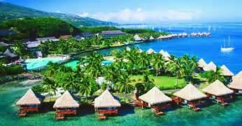 hotels in tahiti intercontinental tahiti resort overwater bungalows