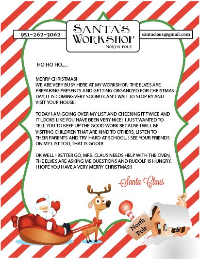 personalized letter from santa claus printable 15 printable letters from santa spaceships and laser beams