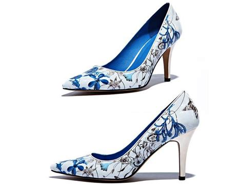 2014 new blue and white porcelain pumps