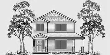 Narrow Lot House Plans With Rear Garage Two Story House Plans Narrow Lot House Plans Rear Garage