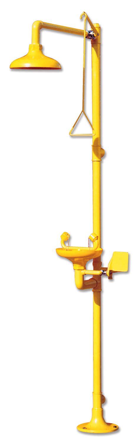 ducha y lavaojos ducha de emergencia de pie con lavaojos labolan
