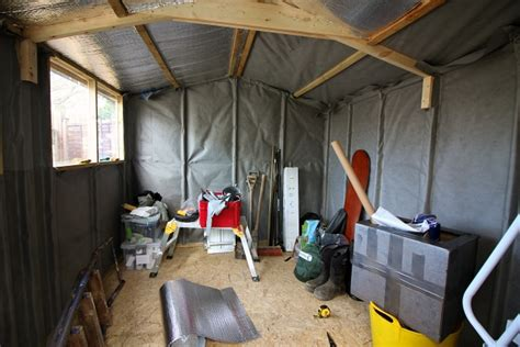 Shed Lining by How To Put Up And Insulate A Shed Tide