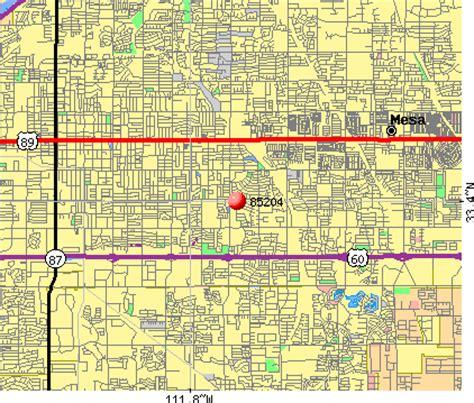 zip code map mesa az 85204 zip code mesa arizona profile homes apartments