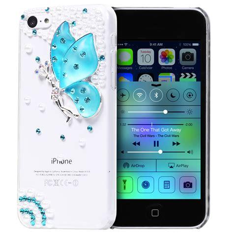 Iphone 5 5s Se Luxury Flower Casing Bling Soft Ring Cover flower bling rhinestone for