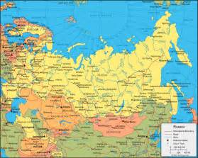 russia political map with cities map of russia political regional