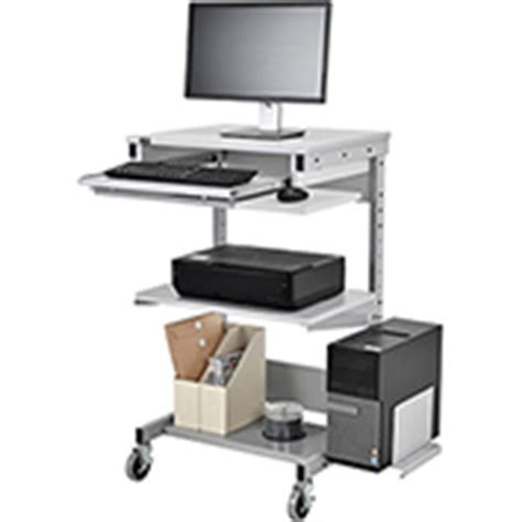 global industrial office furniture mobile computer workstation