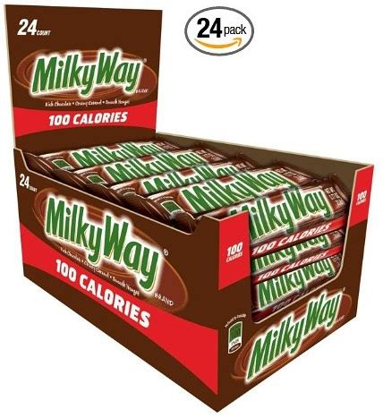 top 100 chocolate bars milky way 100 calories candy bars 24 ct 7 50 reg 17