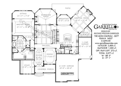 chateau floor plans mon chateau house plan house plans by garrell associates