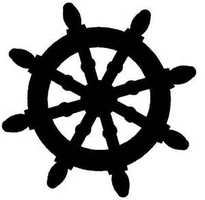 ship wheel template wheel silhouette nautical boats