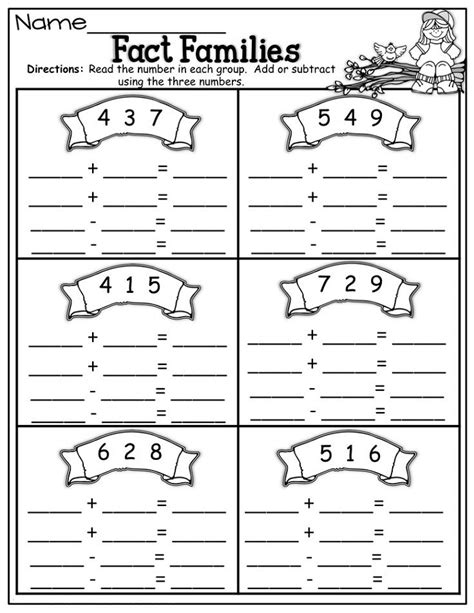 Free Fact Family Worksheets by Free Math Family Worksheets Free Best Free Printable