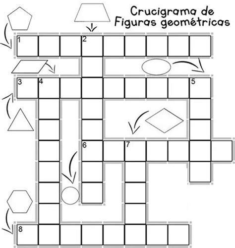 figuras geometricas niños crucigrama de figuras geometricas