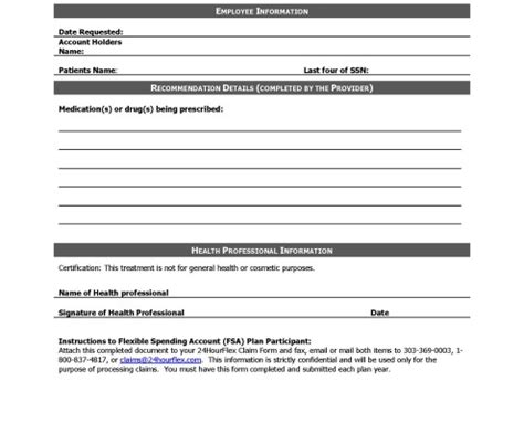 Hsa Enrollment Form Template Forms 24hourflex