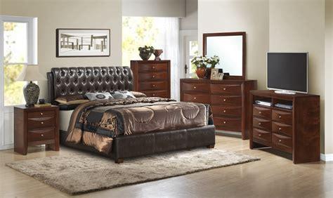 Upholstered Bedroom Sets Homelegance Brompton Upholstered Bedroom Set Cherry