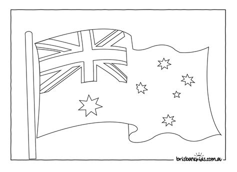 australian flag to colour kids coloring europe travel