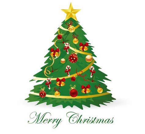 christmas tree vector illustration 3 free vector