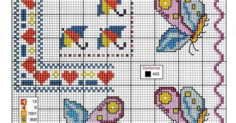cornice a punto croce ricami e schemi a punto croce gratuiti schema tenere