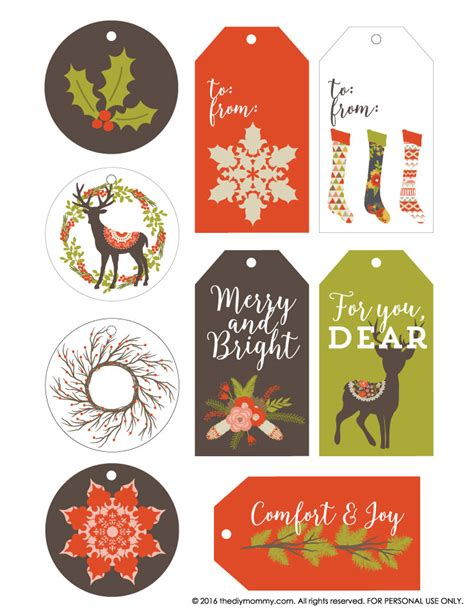 printable christmas tags rustic free vintage rustic christmas gift tags the diy mommy
