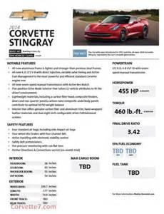 2014 chevy corvette stingray power figures leaked