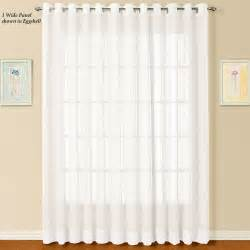 Sheer Panel Curtains Dakota Wide Sheer Grommet Curtain Panel