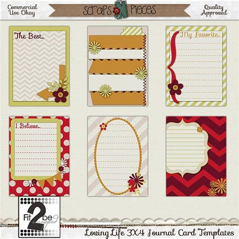 3x4 cards template 17 best images about doitwithheart journal pages on