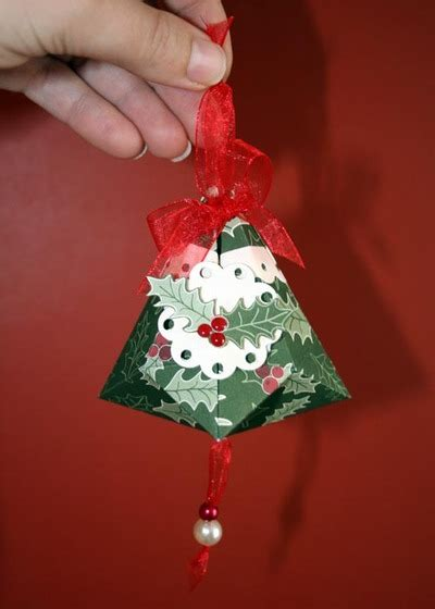 papercraft german christmas bell christmas ornaments