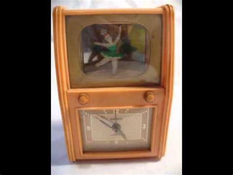 vintage bradley musical ballerina alarm clock youtube