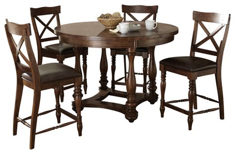 steve silver wyndham 5 counter table set in
