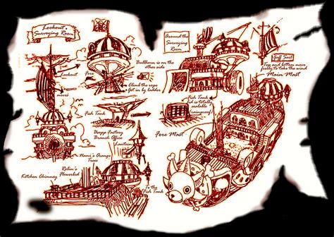 Blueprint Floor Plan Thousand Sunny One Piece