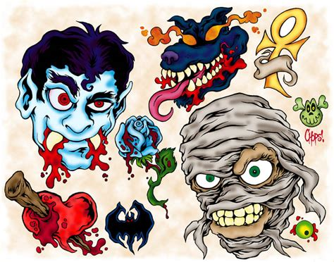 monsters ink tattoo 179 invermay lost flash by monsterink on deviantart
