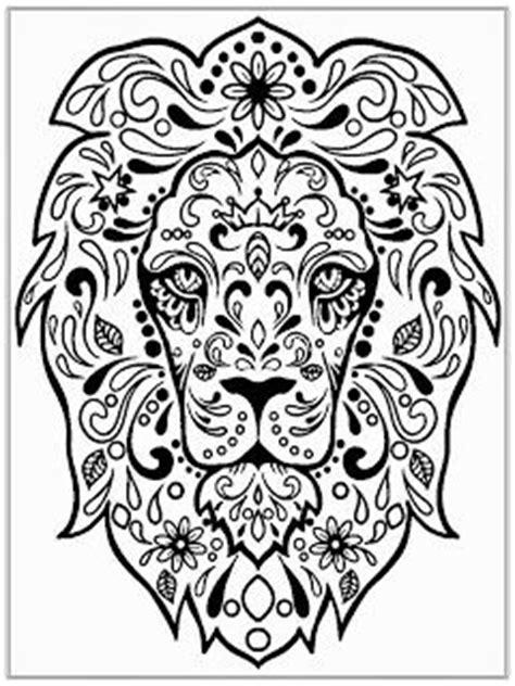 detailed lion coloring pages lion head coloring pages for adult coloring pages for