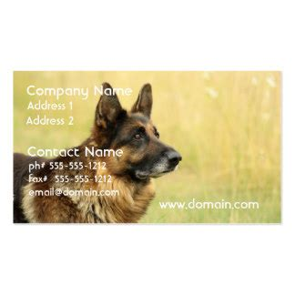free business cards templates german shepherd german shepherd business cards templates zazzle
