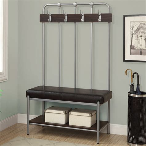 contemporary entry bench silver metal 60in h hall entry bench contemporary benches by modern furniture
