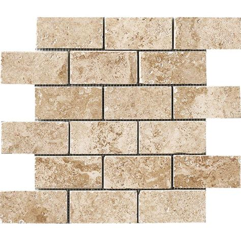 marazzi montagna cortina 12 in x 12 in porcelain brick joint mosaic floor and wall tile uga6