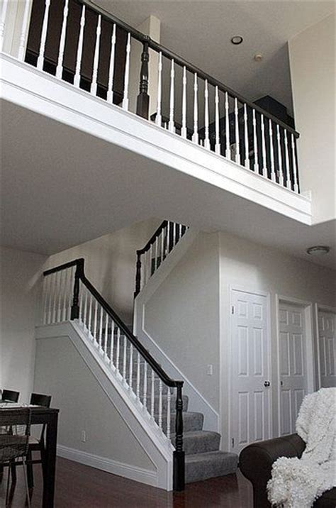Black Staircase Banister by Before And After A Stair Banister Renovation Black