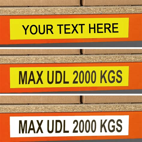 Warehouse Rack Labels by Self Adhesive Beam Load Labels Pack Of 25