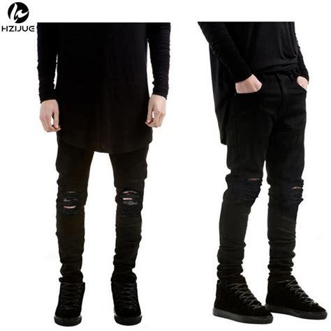 Sale Branded Hotpants Ripped Murah On The Rock aliexpress buy hzijue designer brand new black ripped stretch slim