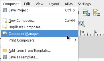 qgis layout templates in qgis in the print composer screen if you save you work