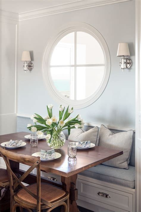 inspired   windows dining nook dining room